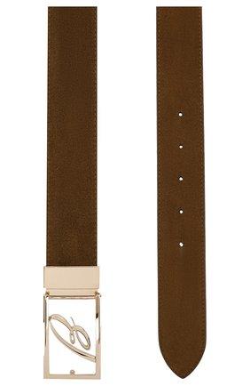 Мужской замшевый ремень BRIONI коричневого цвета, арт. 0BAG0L/P3711 | Фото 2