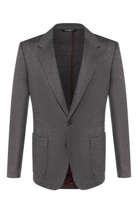 Мужской кашемировый пиджак DOLCE & GABBANA серого цвета, арт. G2NF1T/FUCA4 | Фото 1