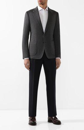 Мужской кашемировый пиджак DOLCE & GABBANA серого цвета, арт. G2NF1T/FUCA4 | Фото 2