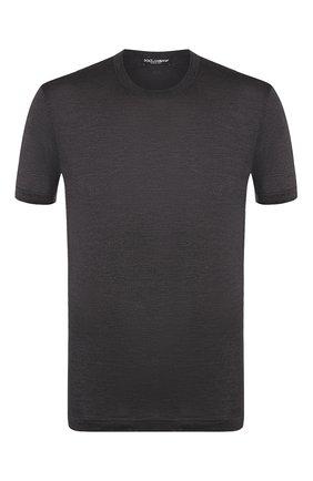 Мужская шелковая футболка DOLCE & GABBANA темно-серого цвета, арт. G8KC0T/FU75F | Фото 1