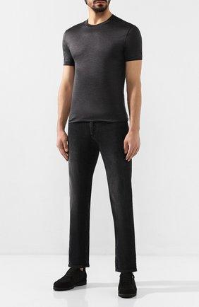 Мужская шелковая футболка DOLCE & GABBANA темно-серого цвета, арт. G8KC0T/FU75F | Фото 2