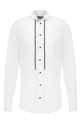 Мужская хлопковая сорочка DOLCE & GABBANA белого цвета, арт. G5GH9T/GEL29 | Фото 1