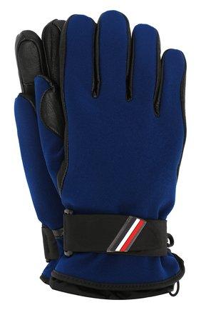 Мужские перчатки MONCLER темно-синего цвета, арт. E2-097-00524-00-53063 | Фото 1