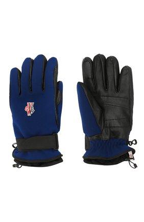 Мужские перчатки MONCLER темно-синего цвета, арт. E2-097-00524-00-53063 | Фото 2