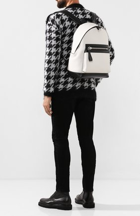 Мужской кожаный рюкзак TOM FORD белого цвета, арт. H0397P-LCL037 | Фото 2