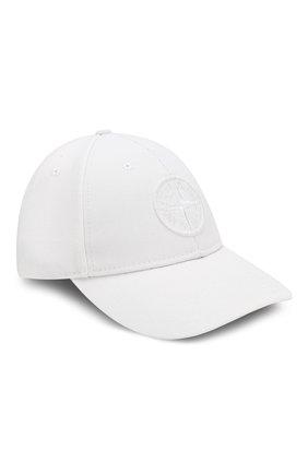Мужской бейсболка STONE ISLAND белого цвета, арт. 711599175 | Фото 1