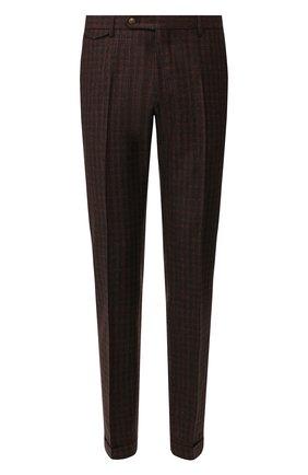 Мужские брюки из смеси шерсти и шелка ANDREA CAMPAGNA коричневого цвета, арт. VULCAN0/VB1293 | Фото 1
