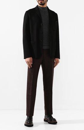 Мужские брюки из смеси шерсти и шелка ANDREA CAMPAGNA коричневого цвета, арт. VULCAN0/VB1293 | Фото 2