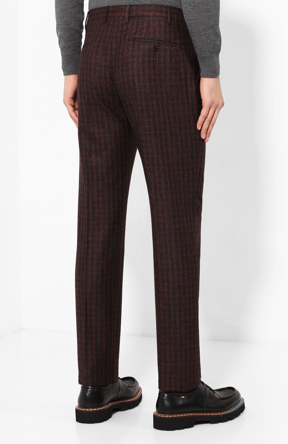 Мужские брюки из смеси шерсти и шелка ANDREA CAMPAGNA коричневого цвета, арт. VULCAN0/VB1293 | Фото 4