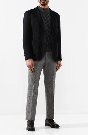 Мужские шерстяные брюки ANDREA CAMPAGNA серого цвета, арт. SC/1/AN1003 | Фото 2