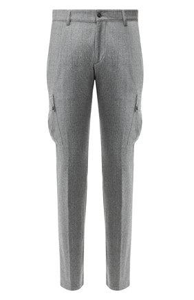Мужской шерстяные брюки-карго ANDREA CAMPAGNA серого цвета, арт. SC CARG0/RD5470 | Фото 1