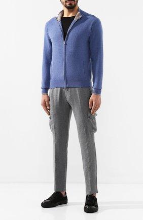 Мужской шерстяные брюки-карго ANDREA CAMPAGNA серого цвета, арт. SC CARG0/RD5470 | Фото 2