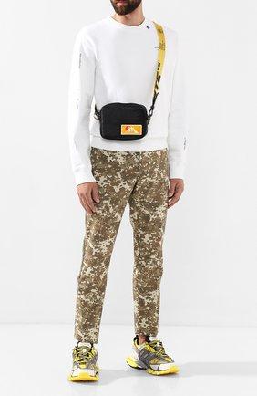 Мужская текстильная сумка OFF-WHITE черного цвета, арт. 0MNA049F19F430021000 | Фото 2