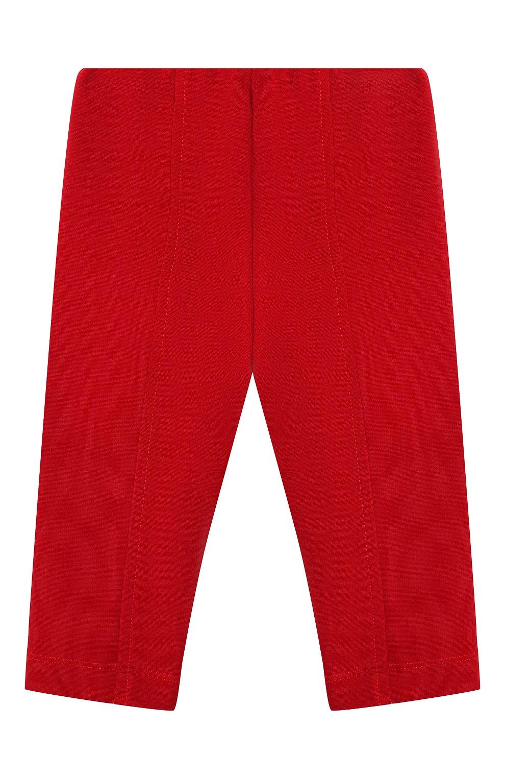 Детские брюки MONNALISA красного цвета, арт. 37CPAN | Фото 2