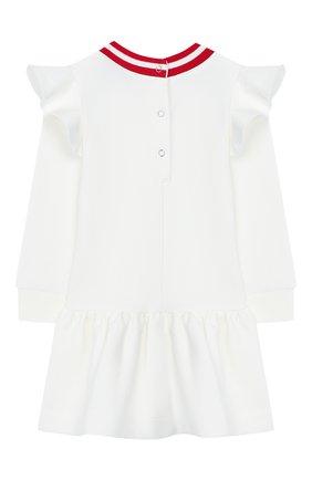 Женский хлопковое платье MONNALISA белого цвета, арт. 394905P9 | Фото 2