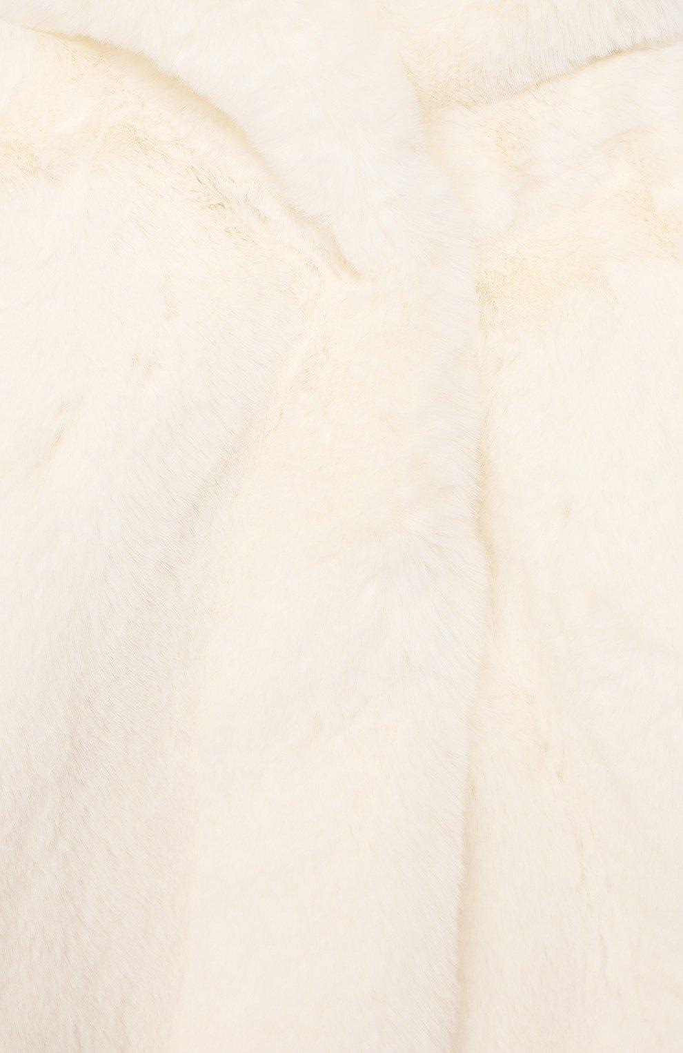 Детского шуба из эко-меха MONNALISA красного цвета, арт. 394105 | Фото 3