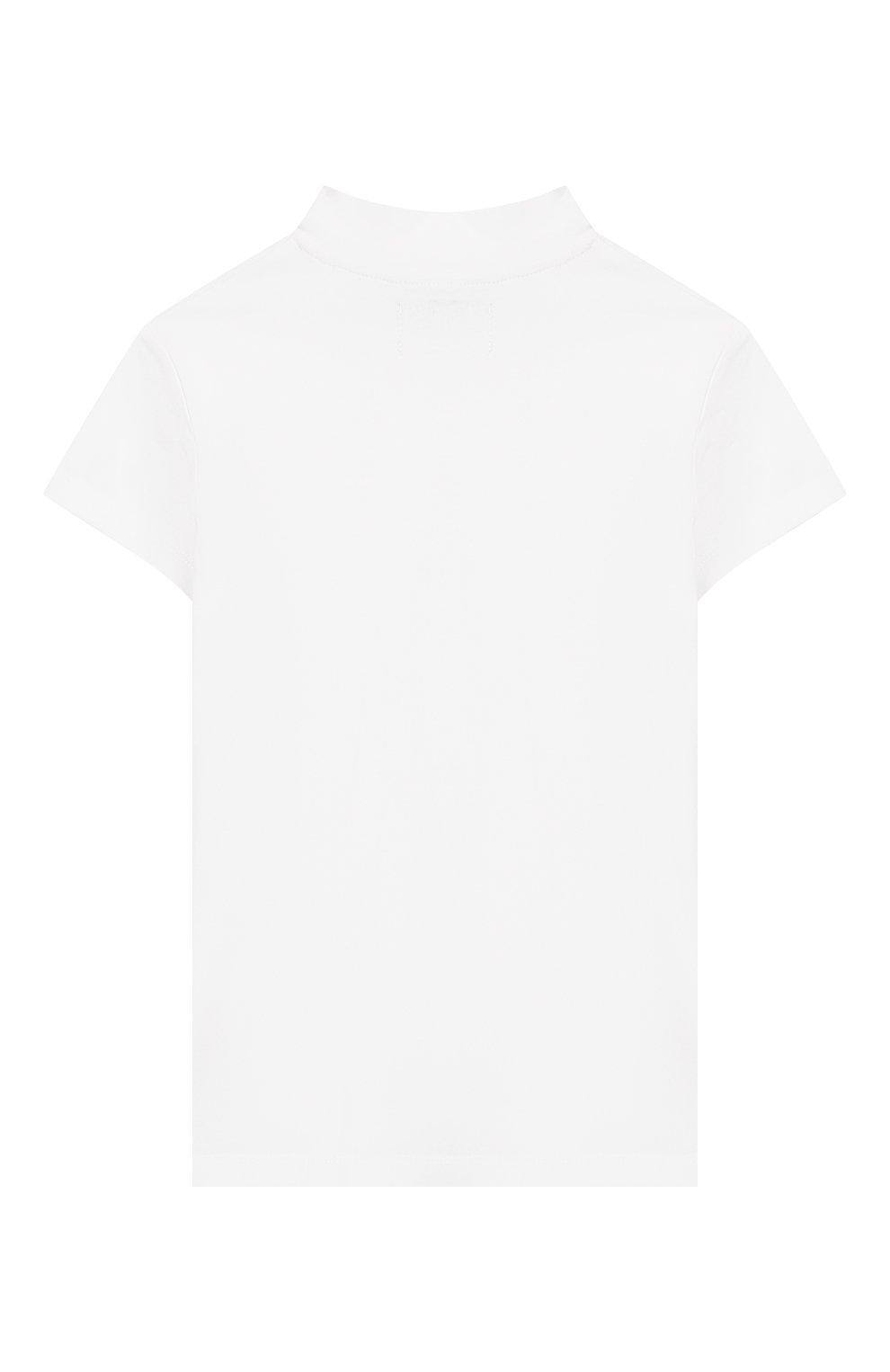 Детская хлопковая футболка CALVIN KLEIN JEANS белого цвета, арт. IG0IG00222 | Фото 2