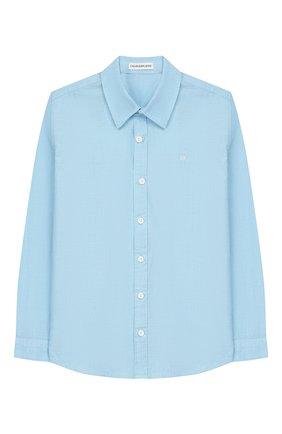 Детская хлопковая рубашка CALVIN KLEIN JEANS голубого цвета, арт. IB0IB00197 | Фото 1