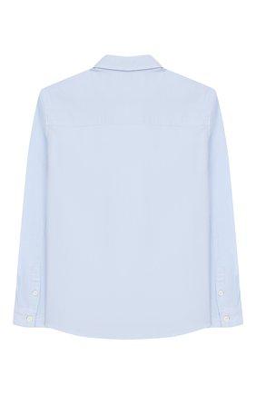 Детская хлопковая рубашка CALVIN KLEIN JEANS голубого цвета, арт. IB0IB00197 | Фото 2