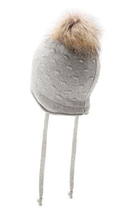 Детского шапка-ушанка bergamo CANOE светло-серого цвета, арт. 5914072.52 | Фото 2