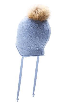 Детского шапка-ушанка bergamo CANOE светло-голубого цвета, арт. 5914044.54 | Фото 2
