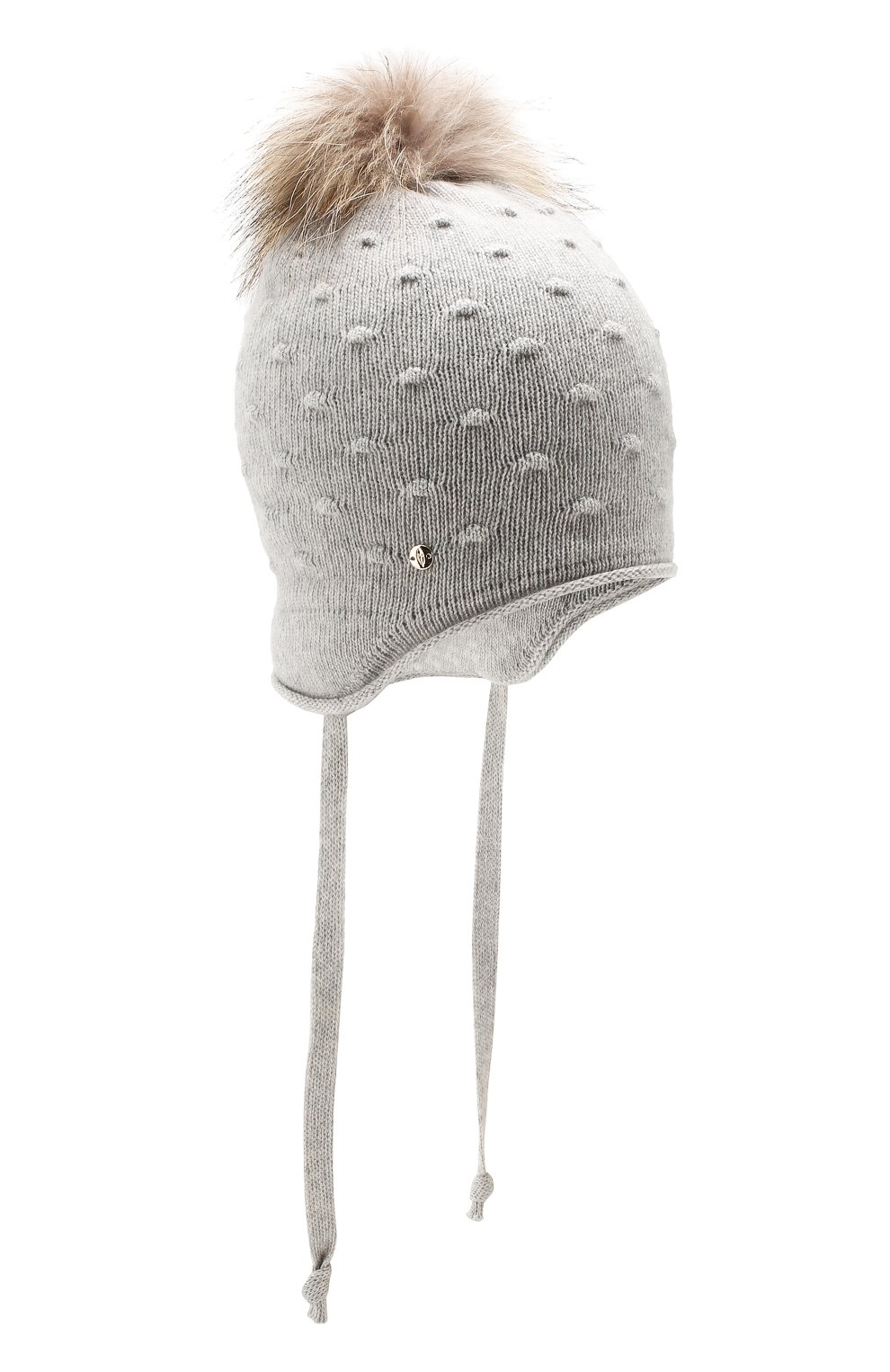 Детского шапка-ушанка bergamo CANOE светло-серого цвета, арт. 5914072.54 | Фото 1