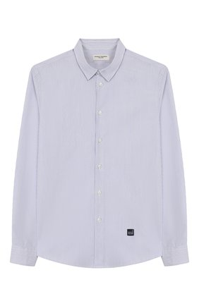 Детская хлопковая рубашка PAOLO PECORA MILANO голубого цвета, арт. PP2062/14Y-16Y | Фото 1