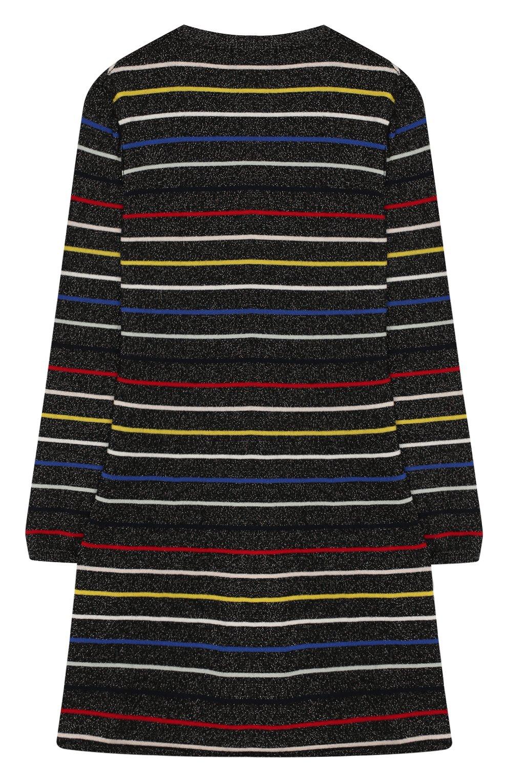 Детское платье из хлопка и шерсти SONIA RYKIEL ENFANT разноцветного цвета, арт. 19W1DR03 | Фото 2 (Материал внешний: Шерсть, Хлопок; Рукава: Длинные; Статус проверки: Проверено; Ростовка одежда: 13 - 15 лет | 158 см)