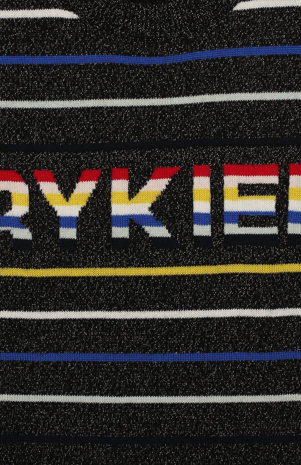 Детское платье из хлопка и шерсти SONIA RYKIEL ENFANT разноцветного цвета, арт. 19W1DR03 | Фото 3 (Материал внешний: Шерсть, Хлопок; Рукава: Длинные; Статус проверки: Проверено; Ростовка одежда: 13 - 15 лет | 158 см)