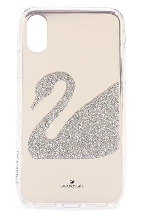 Мужской чехол для iphone x/xs SWAROVSKI серебряного цвета, арт. 5498552 | Фото 1