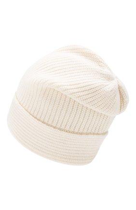 Женский шапка из смеси шерсти и кашемира ALLUDE белого цвета, арт. 195/17131 | Фото 2