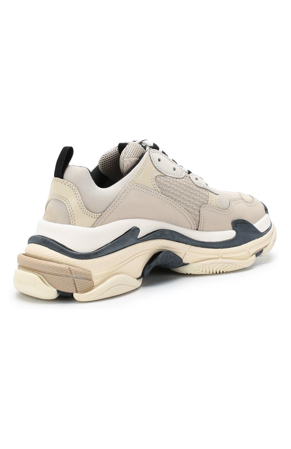 Комбинированные кроссовки Triple S | Фото №4
