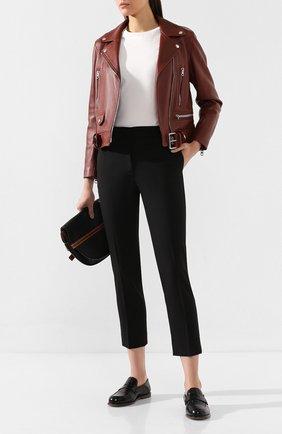 Женские шерстяные брюки CASASOLA черного цвета, арт. TRSP1160 | Фото 2