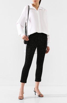Женские брюки ISABEL BENENATO черного цвета, арт. DW42F19   Фото 2