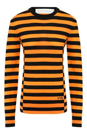 Женская шерстяной пуловер VICTORIA, VICTORIA BECKHAM желтого цвета, арт. KNTVV 142 PAW19 MERIN0 W00L | Фото 1