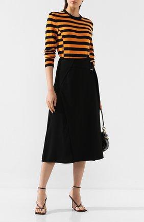 Женская шерстяной пуловер VICTORIA, VICTORIA BECKHAM желтого цвета, арт. KNTVV 142 PAW19 MERIN0 W00L | Фото 2