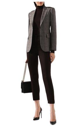 Женские кашемировые брюки LORO PIANA коричневого цвета, арт. FAI8499   Фото 2