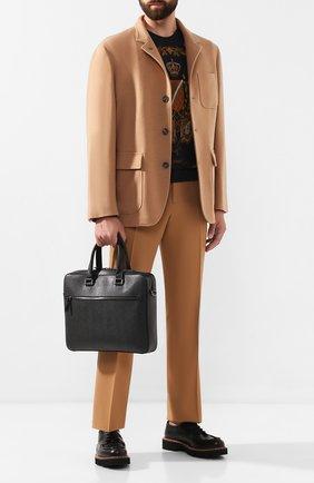 Мужская кожаная сумка для ноутбука SALVATORE FERRAGAMO черного цвета, арт. Z-0670616   Фото 2