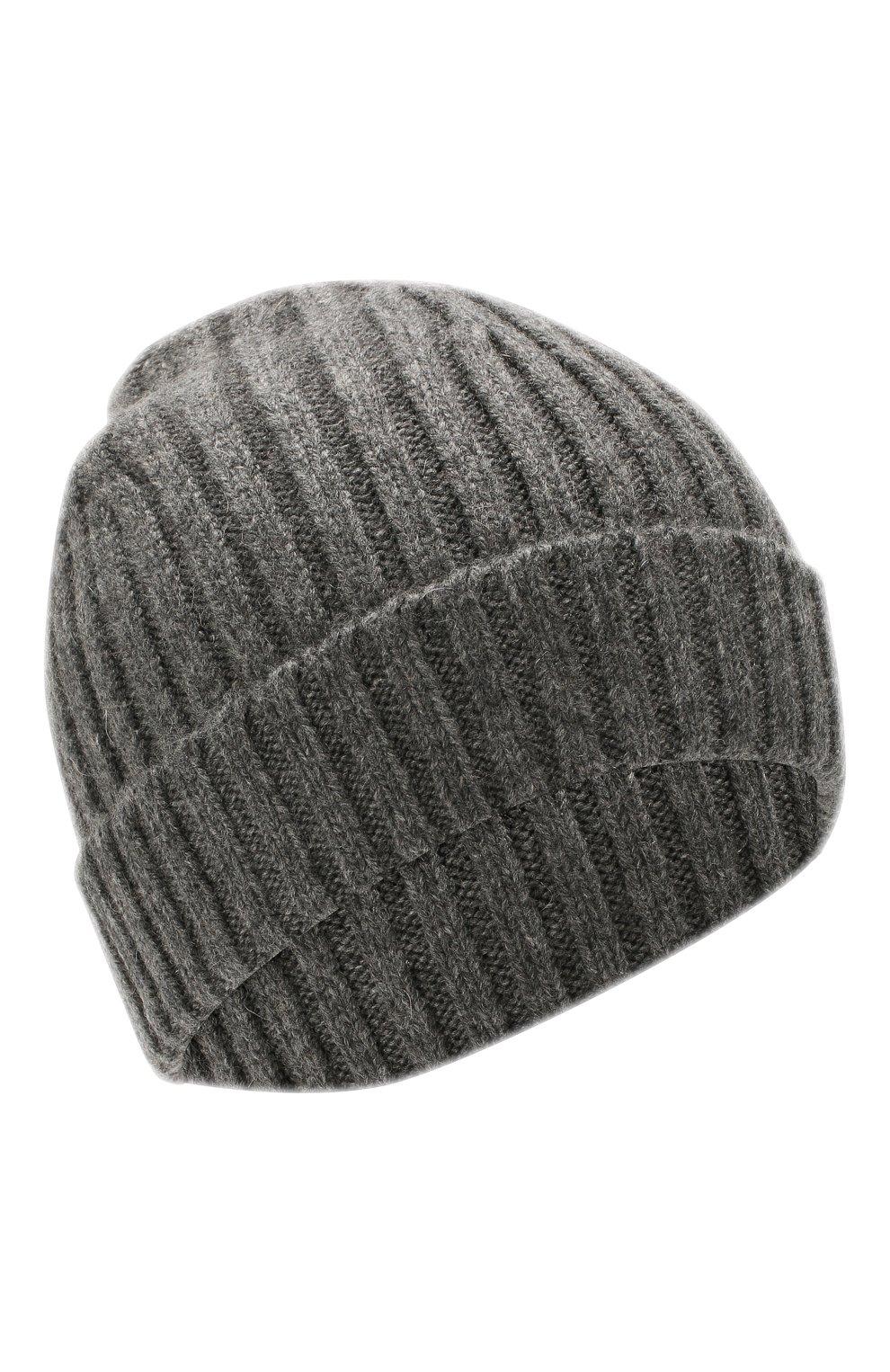 Мужская кашемировая шапка BOSS серого цвета, арт. 50391584 | Фото 1