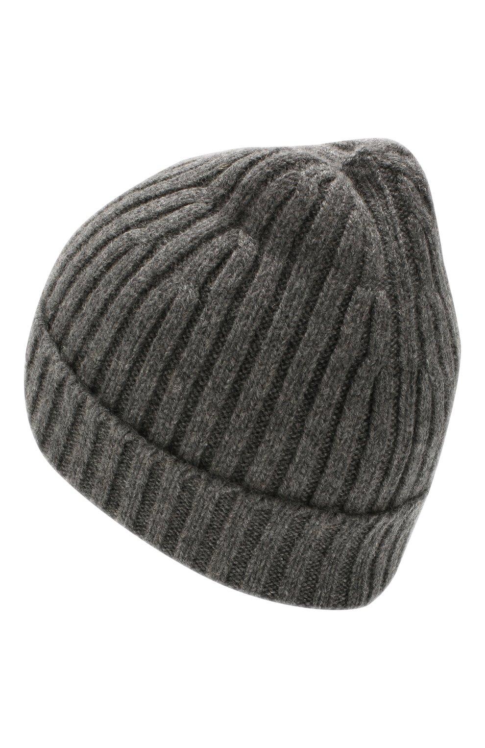 Мужская кашемировая шапка BOSS серого цвета, арт. 50391584 | Фото 2