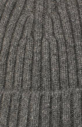 Мужская кашемировая шапка BOSS серого цвета, арт. 50391584 | Фото 3