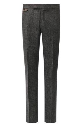 Мужские шерстяные брюки ZILLI темно-серого цвета, арт. M0S-40-38P-B6427/0001 | Фото 1 (Длина (брюки, джинсы): Стандартные; Материал подклада: Купро; Материал внешний: Шерсть; Случай: Формальный; Стили: Классический)