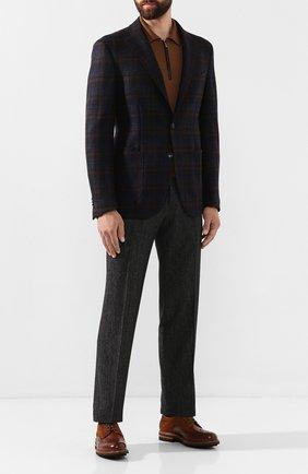 Мужские шерстяные брюки ZILLI темно-серого цвета, арт. M0S-40-38P-B6427/0001 | Фото 2 (Длина (брюки, джинсы): Стандартные; Материал подклада: Купро; Материал внешний: Шерсть; Случай: Формальный; Стили: Классический)