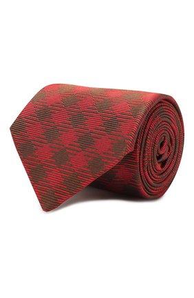 Мужской шелковый галстук LUIGI BORRELLI красного цвета, арт. LC80-B/TT8761 | Фото 1
