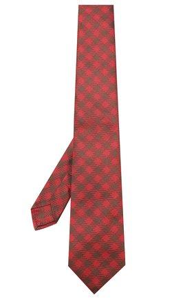 Мужской шелковый галстук LUIGI BORRELLI красного цвета, арт. LC80-B/TT8761 | Фото 2