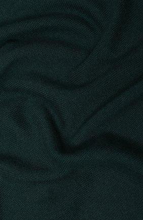 Мужской кашемировый шарф ALLUDE темно-зеленого цвета, арт. 195/30030 | Фото 2