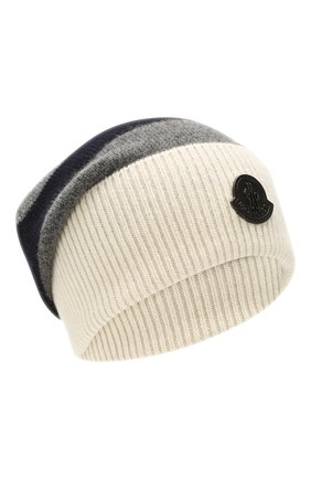 Мужская шерстяная шапка MONCLER белого цвета, арт. E2-091-99282-00-A9225 | Фото 1