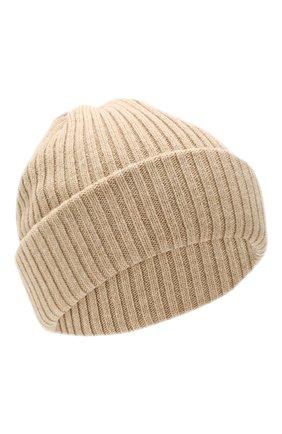 Мужская шерстяная шапка BURBERRY бежевого цвета, арт. 8021812 | Фото 1