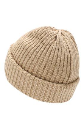 Мужская шерстяная шапка BURBERRY бежевого цвета, арт. 8021812 | Фото 2