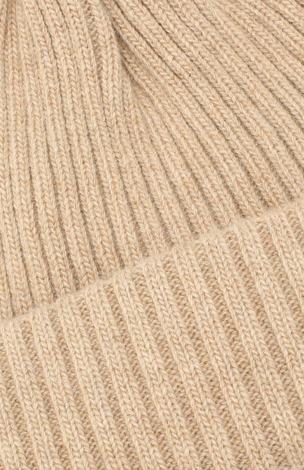 Мужская шерстяная шапка BURBERRY бежевого цвета, арт. 8021812 | Фото 3